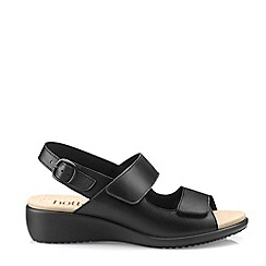 Hotter - Black 'Easy' Extra Wide Slingback Sandals