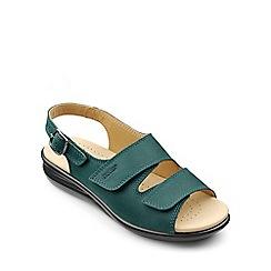 Hotter - Dark green 'Easy' mid heel slingbacks