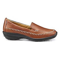 Hotter - Dark tan 'Ecuador' wide fit slip on loafers