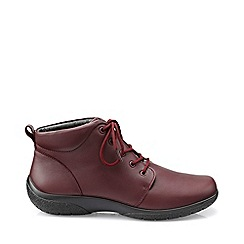 Hotter - Maroon 'Ellery' ankle boots