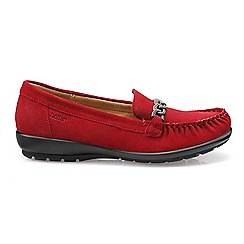 Hotter - Red 'Eternity' moccasins
