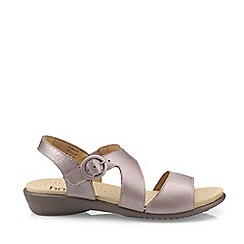Hotter - Lilac 'Flame' Peep Toe Sandals