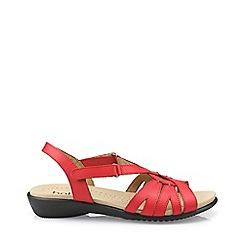 Hotter - Dark orange 'Flare' slingback sandals