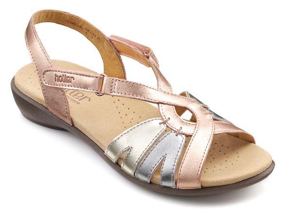 'Flare' sandals slingback Hotter Light gold EFxvXf4