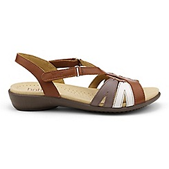 Hotter - Tan leather 'Flare' strap slingback sandals