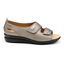 Hotter - Metallic leather 'Florence' wide fit peep toe sandals
