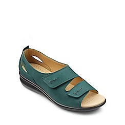 Hotter - Dark green 'Florence' peep toe sandals