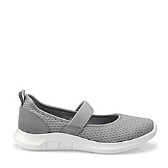 Hotter - Light Grey 'Flow' Mary Janes Shoes