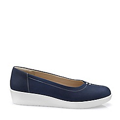 Hotter - Dark Blue 'Fortune' Ballet Pumps