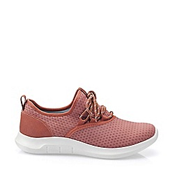 Hotter - Dark Peach 'Glide' Lace-Up Trainers