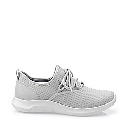 Hotter - White 'Glide' Lace-Up Trainers