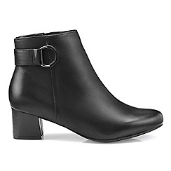 Hotter - Black 'Glee' ankle boots