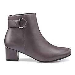 Hotter - Dark grey 'Glee' ankle boots