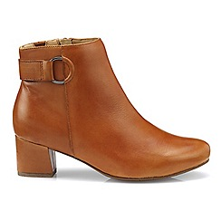 Hotter - Dark tan 'Glee' ankle boots