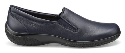 Hotter - Navy 'Glove' slip on pumps