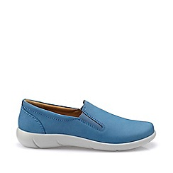 Hotter - Blue 'Glove' slip-on pumps