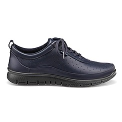 Hotter - Navy leather 'Gravity' lace-up trainers