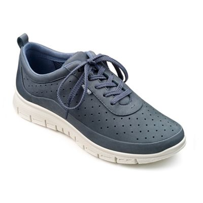 Hotter - Blue suede 'Gravity' lace up trainers