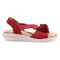 f3017909279 Hotter - Bright red  Hannah  wide fit slingback sandals