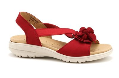 Hotter - Bright red 'Hannah' slingback sandals
