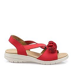 Hotter - Dark Orange 'Hannah' Wide Fit Slingback Sandals