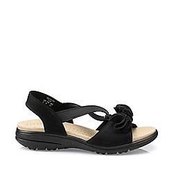 Hotter - Black 'Hannah' Wide Fit Slingback Sandals