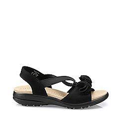 Hotter - Black 'Hannah' slingback sandals