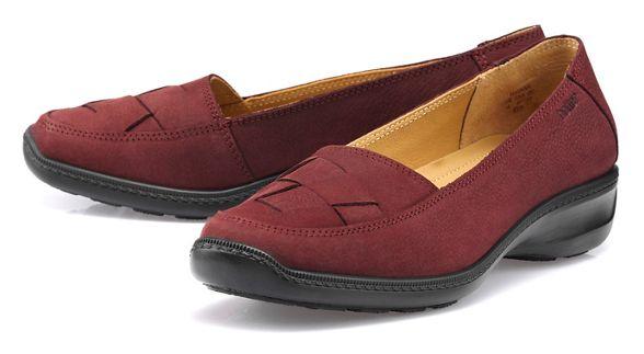 Maroon wide slip 'Havana' Hotter fit on shoes z0gWq