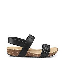 Hotter - Black 'Haven' Slingback Sandals