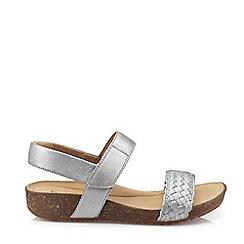 Hotter - Dark Grey 'Haven' Slingback Sandals