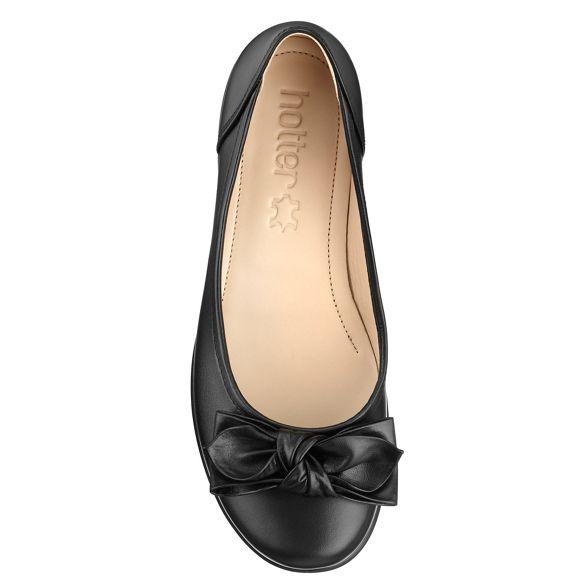 Hotter fit Black ballet wide pumps 'Jewel' ZwxrHn6qZ