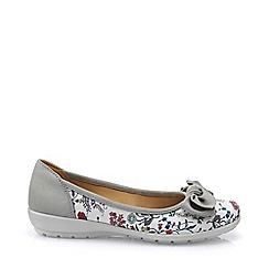 Hotter - Light grey 'Jewel' wide fit ballet pumps