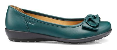Hotter - Dark green 'Jewel' ballet pumps