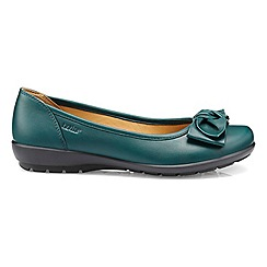 Hotter - Dark green 'Jewel' ballet pumps