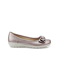 Hotter - Mauve 'Jewel' ballet pumps