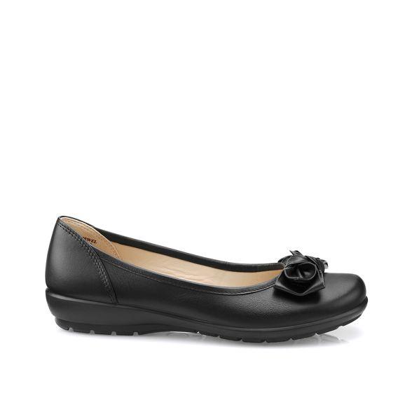 Hotter Black pump shoes ballet leather 'Jewel' 6H0xS6r