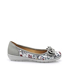 Hotter - Light grey 'Jewel' ballet pumps