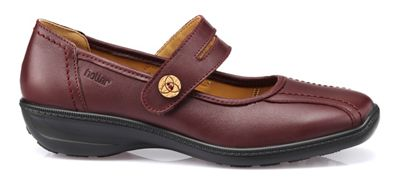 Hotter - Maroon 'Karen' wide fit Mary Janes