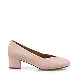 Hotter - Light Pink 'Katya' Wide Fit Block Heel Court Shoes