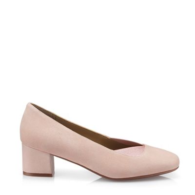 Hotter - Light Pink  Katya  Block Heel Court Shoes 64fa18cd6