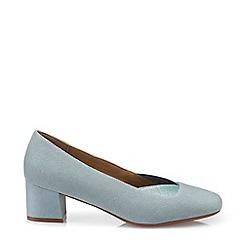 Hotter - Aqua 'Katya' Block Heel Court Shoes