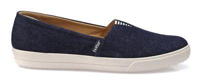 Hotter - Blue 'Laurel' wide fit slip-on shoes