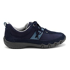 Hotter - Navy 'Leanne' wide fit lace-up trainers