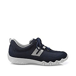 Hotter - Dark blue 'Leanne' wide fit lace-up trainers
