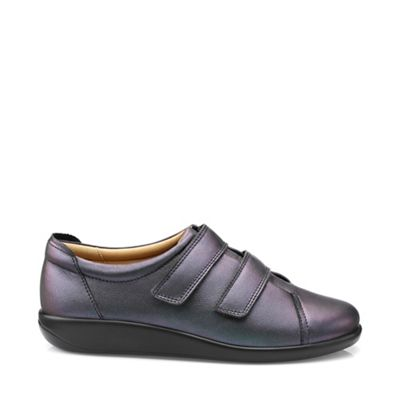 Hotter - Dark grey 'Leap' wide fit shoes