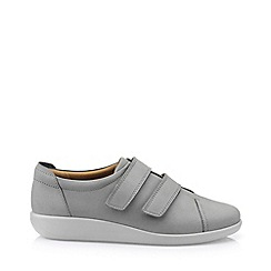 Hotter - Grey 'Leap' wide fit touch close shoes