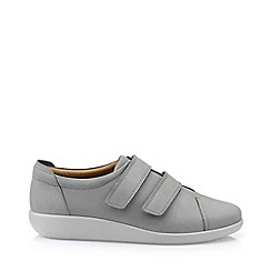 Hotter - Grey 'Leap' extra wide fit touch close shoes