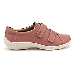 Hotter - Light pink 'Leap' wide fit shoes