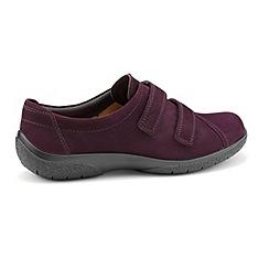 Hotter - Plum 'Leap' wide fit touch close shoes