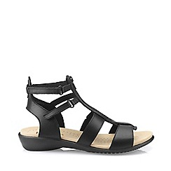 Hotter - Black 'Liberty' gladiator sandals